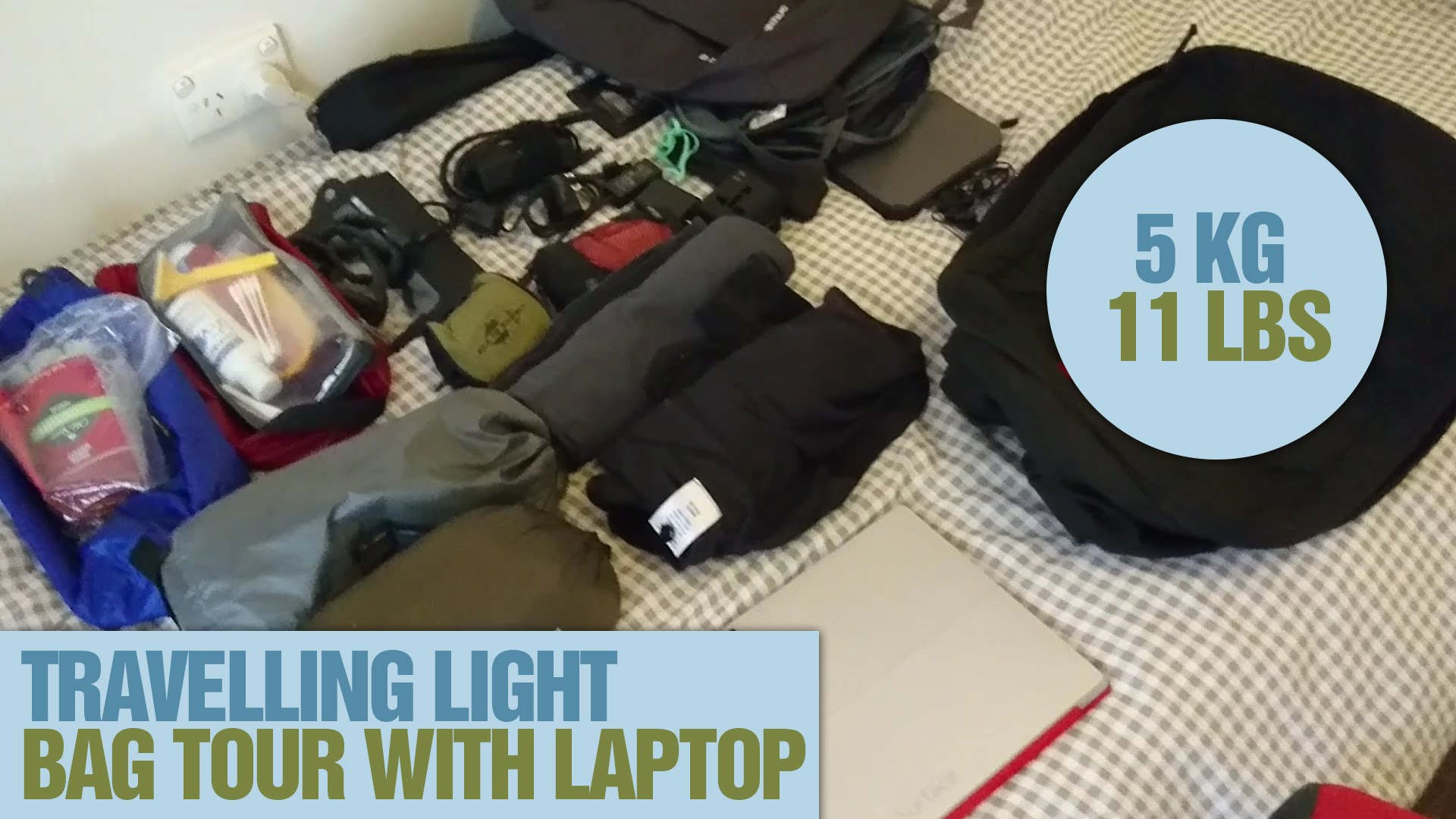 Travelling-Light-5kg-11lbs-Backpack-Tour-With-Laptop