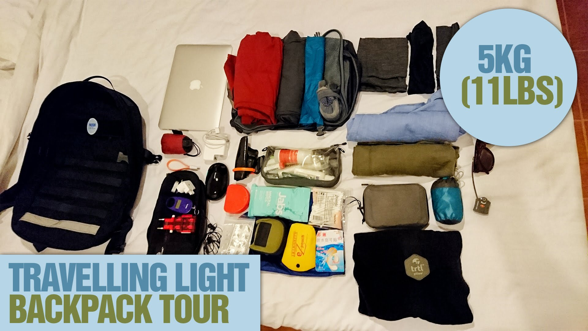 2016-Travelling-Light-5kg-11lbs-backpack-tour-with-a-laptop