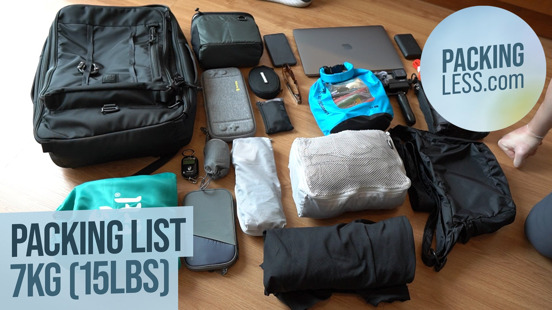 [August 2019] Travelling Light 7kg (15lbs) Backpack Tour Packing List